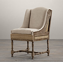 Deconstructed Slope Arm Dining Chair Belgian Linen Sand