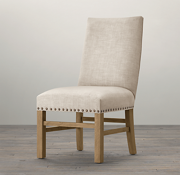 Nailhead fabric side chair - Nailhead dining room chairs ...