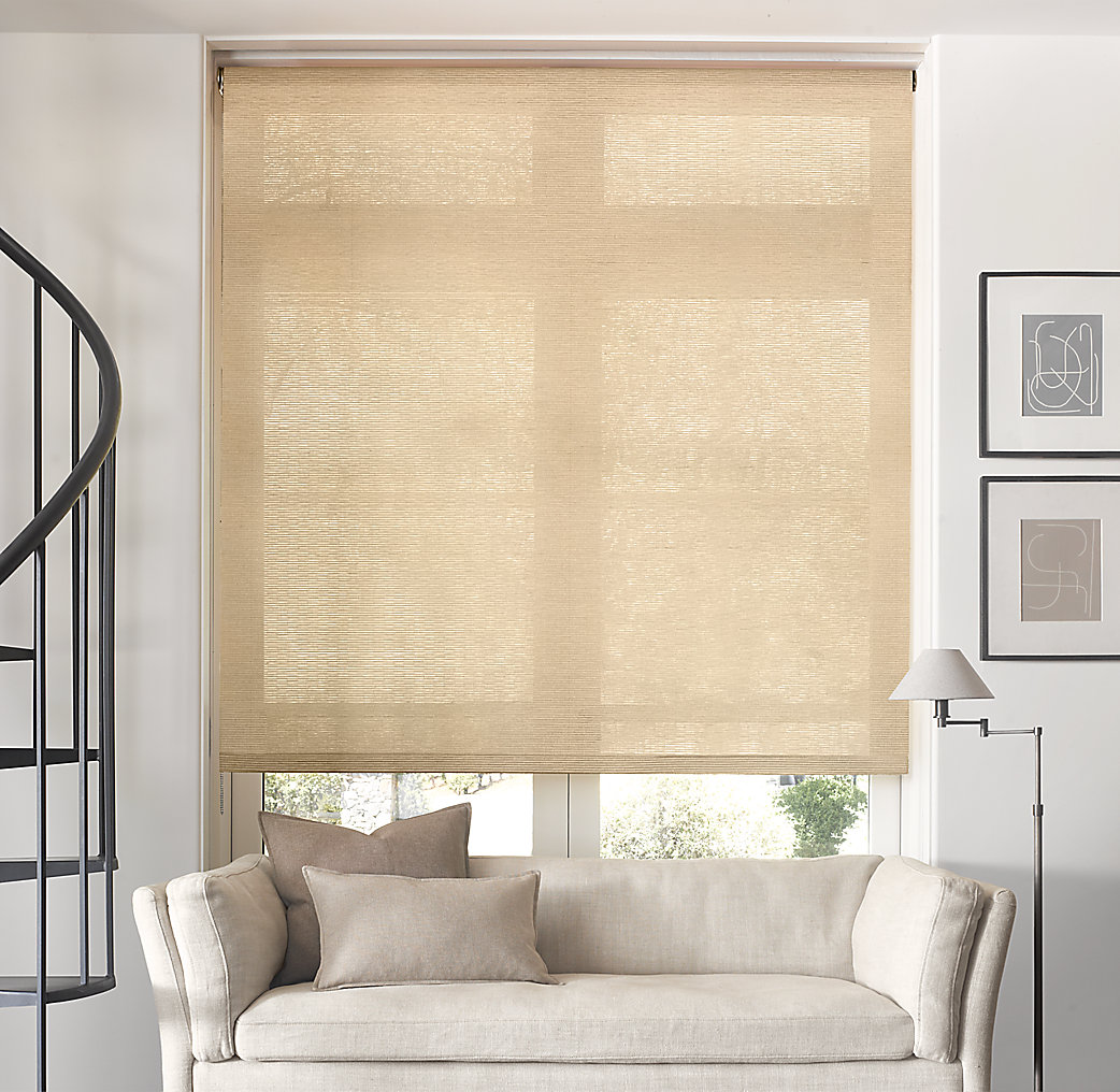 Natural roller shade for Restoration hardware window shades