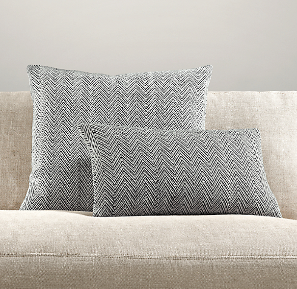 Chevron Tapestry Weave Pillow Collection