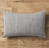Chevron Tapestry Weave Lumbar Pillow