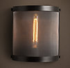 Riveted Mesh Sconce