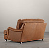 5' English Roll Arm Leather Sofa