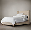 "Grayson Upholstered Sleigh 58"" Bed without Footboard"