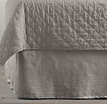 Garment-Dyed Linen Bed Skirt