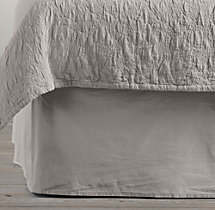 Garment-Dyed Sateen Bed Skirt
