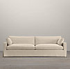 8' Belgian Track Arm Slipcovered Two Cushion Sofa