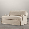 "60"" English Roll Arm Slipcovered Sofa"