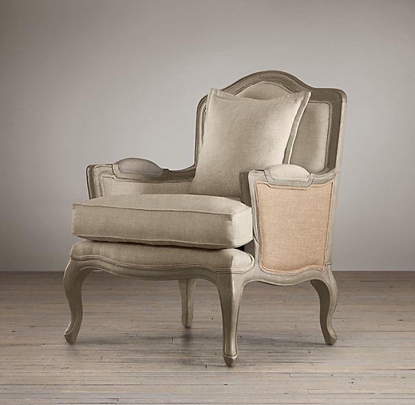 marseilles chair with burlap. Black Bedroom Furniture Sets. Home Design Ideas