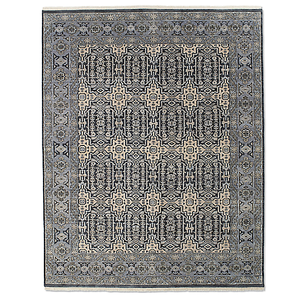 Moderne Geometric Rug Swatch - Blue