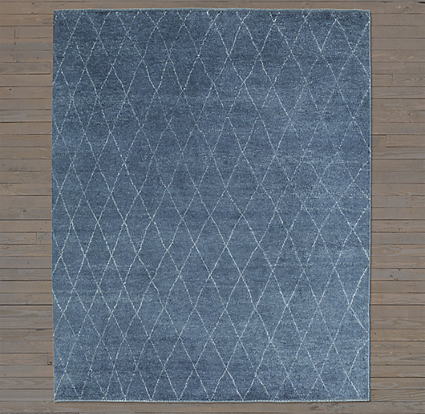 Dara Rug Swatch - Navy