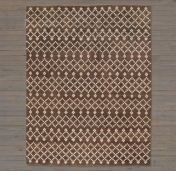 Tazza Rug Swatch - Chocolate