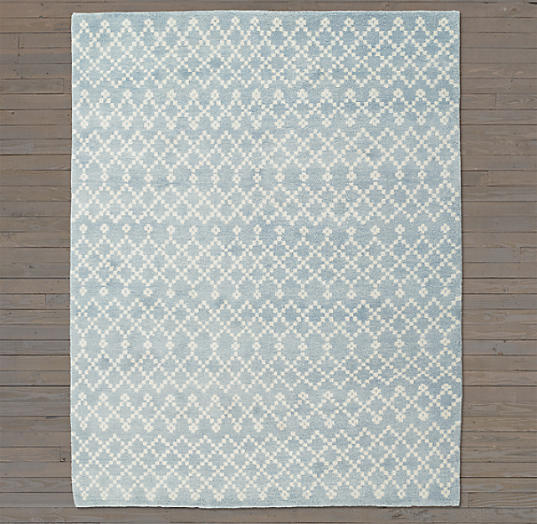 Tazza Rug Swatch - Blue