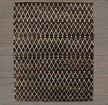 Zata Rug Swatch - Chocolate