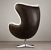 1950s Copenhagen Chair with Shearling