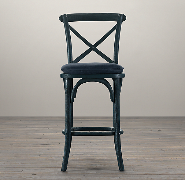 Madeleine Armless Barstool Stained Wood