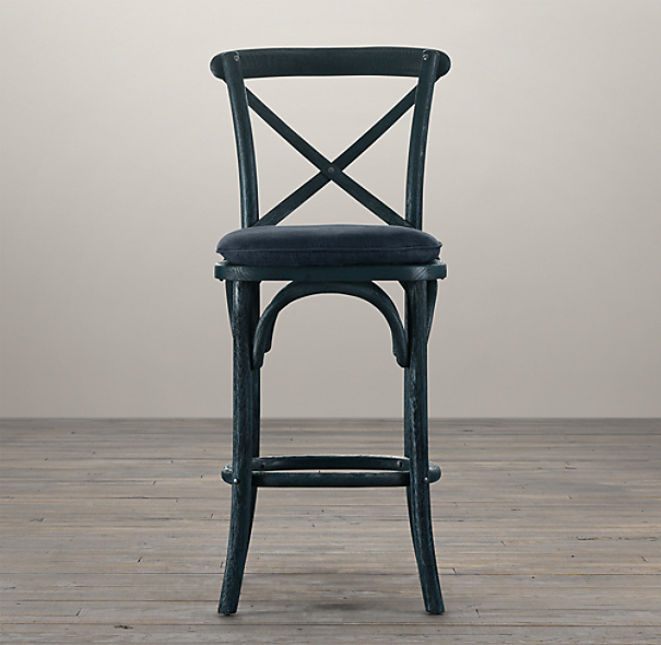 Madeleine Armless Counter Stool Stained Wood