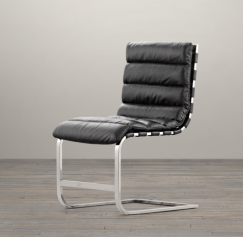 Restoration Hardware Oviedo Leather Dining Chair