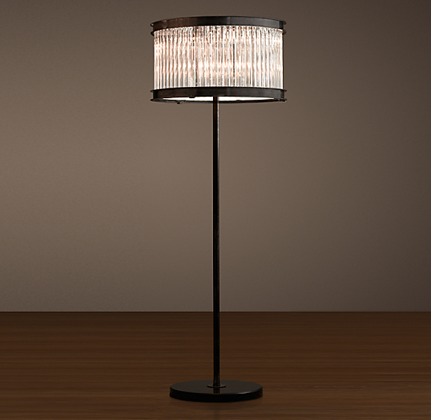 1920s Essex Crystal Rod Floor Lamp