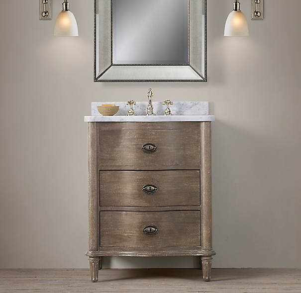 Restoration Hardware Empire Rosette: Empire Rosette Powder Room Vanity Sink
