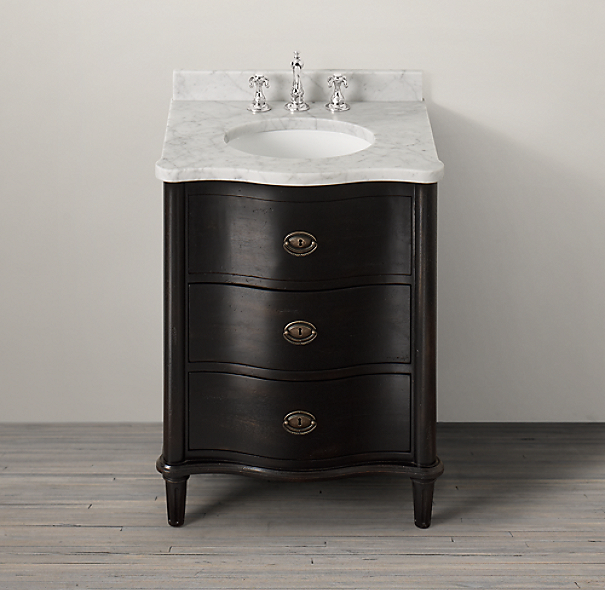 Empire Rosette Powder Vanity Sink Base
