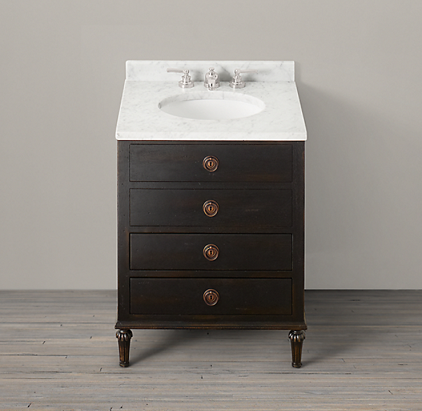 Maison Powder Room Vanity Sink Base