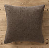 Italian Wool & Alpaca Ribbed Knit Pillow Cover Mocha