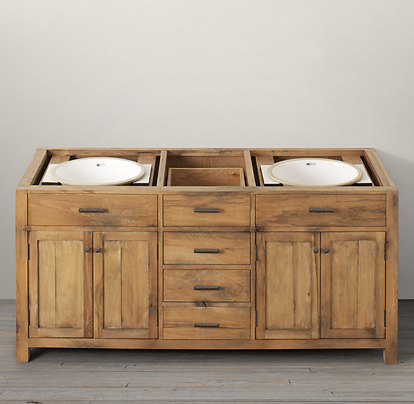 Logan Double Vanity Sink Base