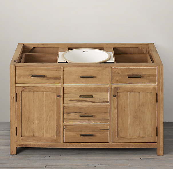 Logan Extra Wide Single Vanity Sink Base
