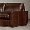 10' Maxwell Leather Three Cushion Sofa