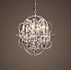 Foucault's Orb Crystal Chandelier Polished Nickel Small