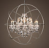 Foucault's Orb Crystal Chandelier Polished Nickel Large