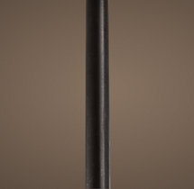 "Camino Chandelier 12"" Extension Rod Forged Iron"