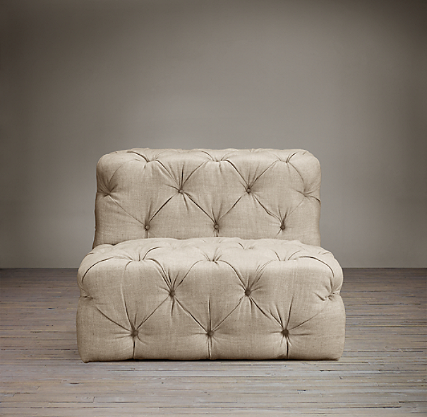 Soho Tufted Upholstered Armless Chair