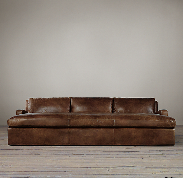 Belgian Slope Arm Leather Daybed
