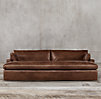Belgian Track Arm Leather Daybed