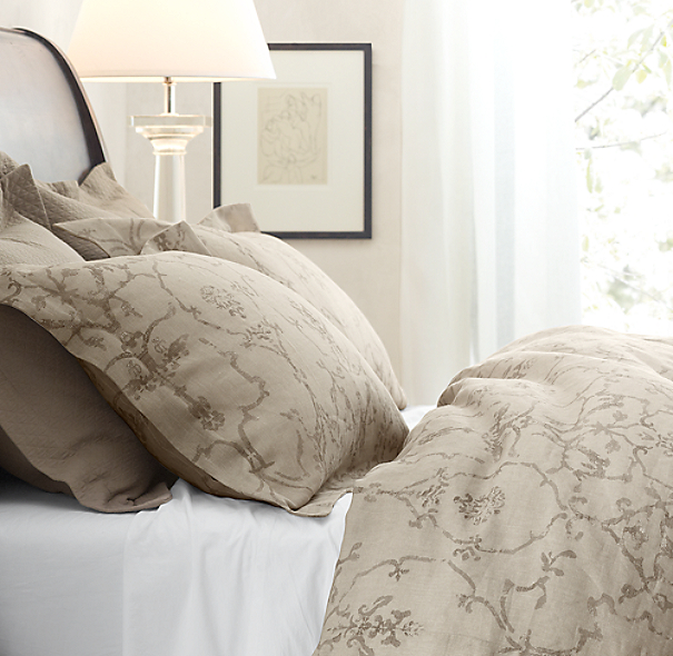 Italian Vintage Trellis Print Bedding Collection