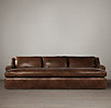 Belgian Roll Arm Leather Daybed