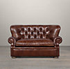 5' Churchill Leather Sofa without Nailheads