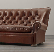 9' Churchill Leather Sofa without Nailheads