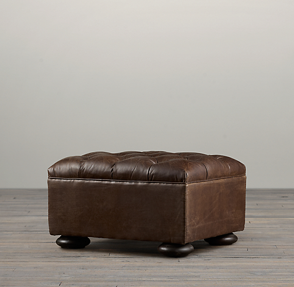 Churchill Leather Ottoman