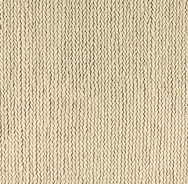 Chunky Braided Wool Rug Swatch Cream