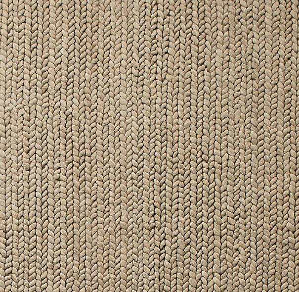 Chunky Braided Wool Rug Swatch Oatmeal