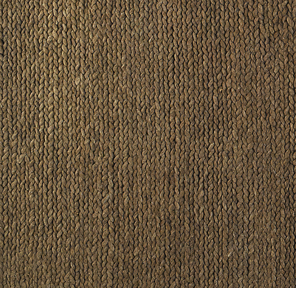 Chunky Braided Wool Rug Swatch - Mocha