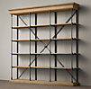 Parisian Cornice Wide Bookcase