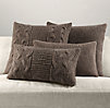 Italian Wool & Alpaca Knit Pillow Cover Collection - Mocha