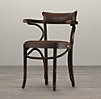 Vienna Cafe Armchair Antiqued Whiskey Leather