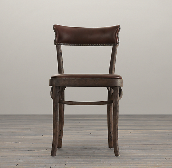 Vienna Cafe Side Chair Antiqued Whiskey Leather