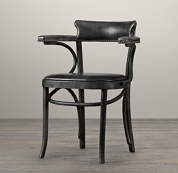 Vienna Cafe Armchair Slate Leather