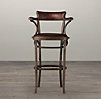 Vienna Cafe Barstool Antiqued Whiskey Leather